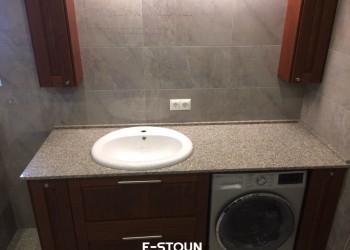 Столешница из камня в ванную комнату: материал кварцевый агломерат Samsung Radianz