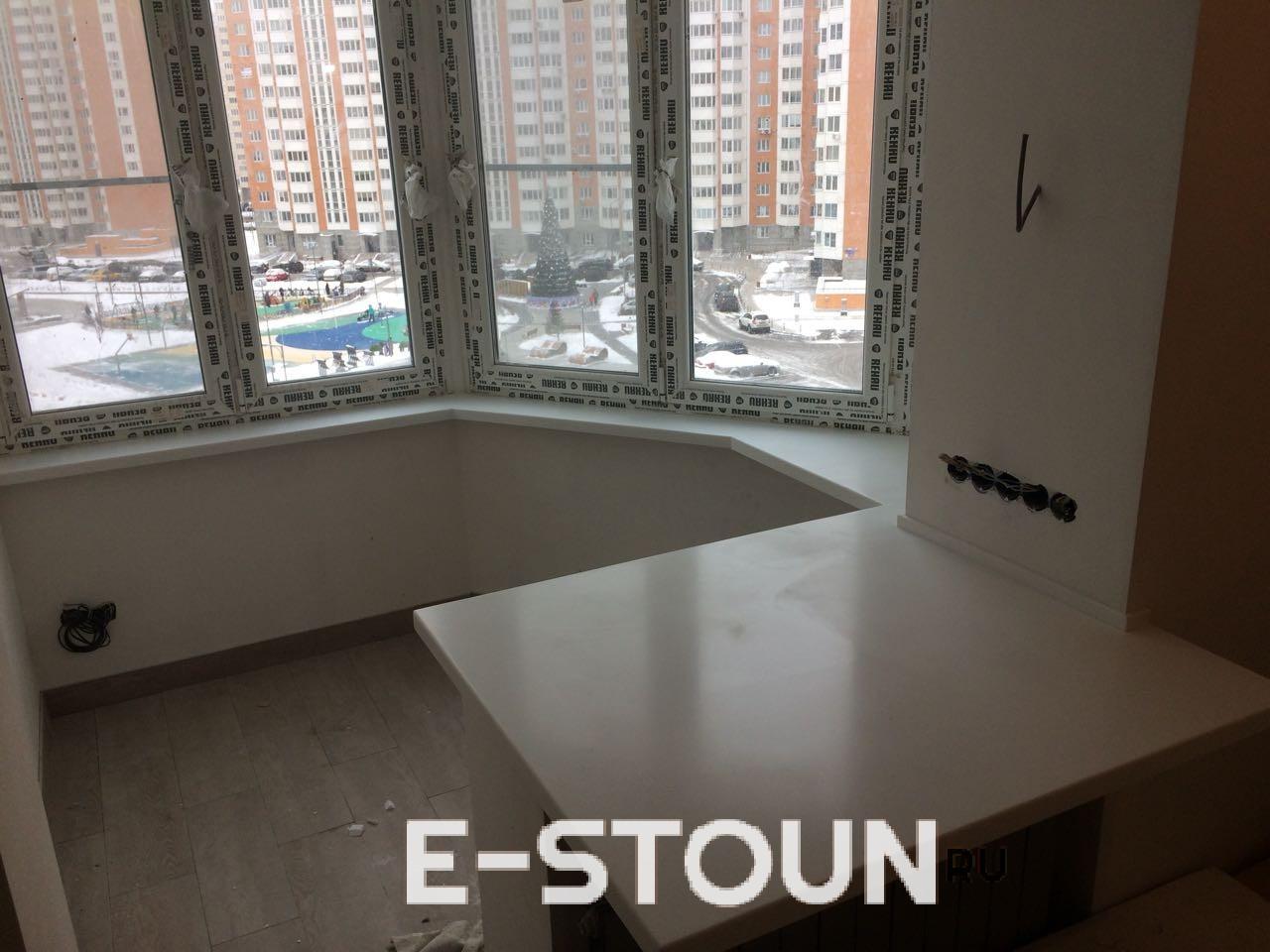 Подоконник из камня на балкон: цена и фотографии. Производитель компания e-stoun.ru