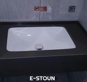 Столеница в ванную комнату из кварцевого камня Samsung Radianz AE498 Alpine Umber
