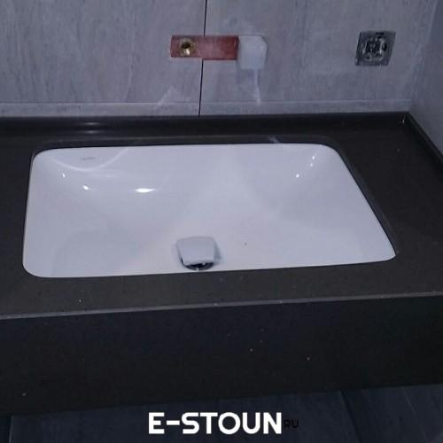 Столешница в ванную комнату из кварцевого камня Samsung Radianz AE498 Alpine Umber