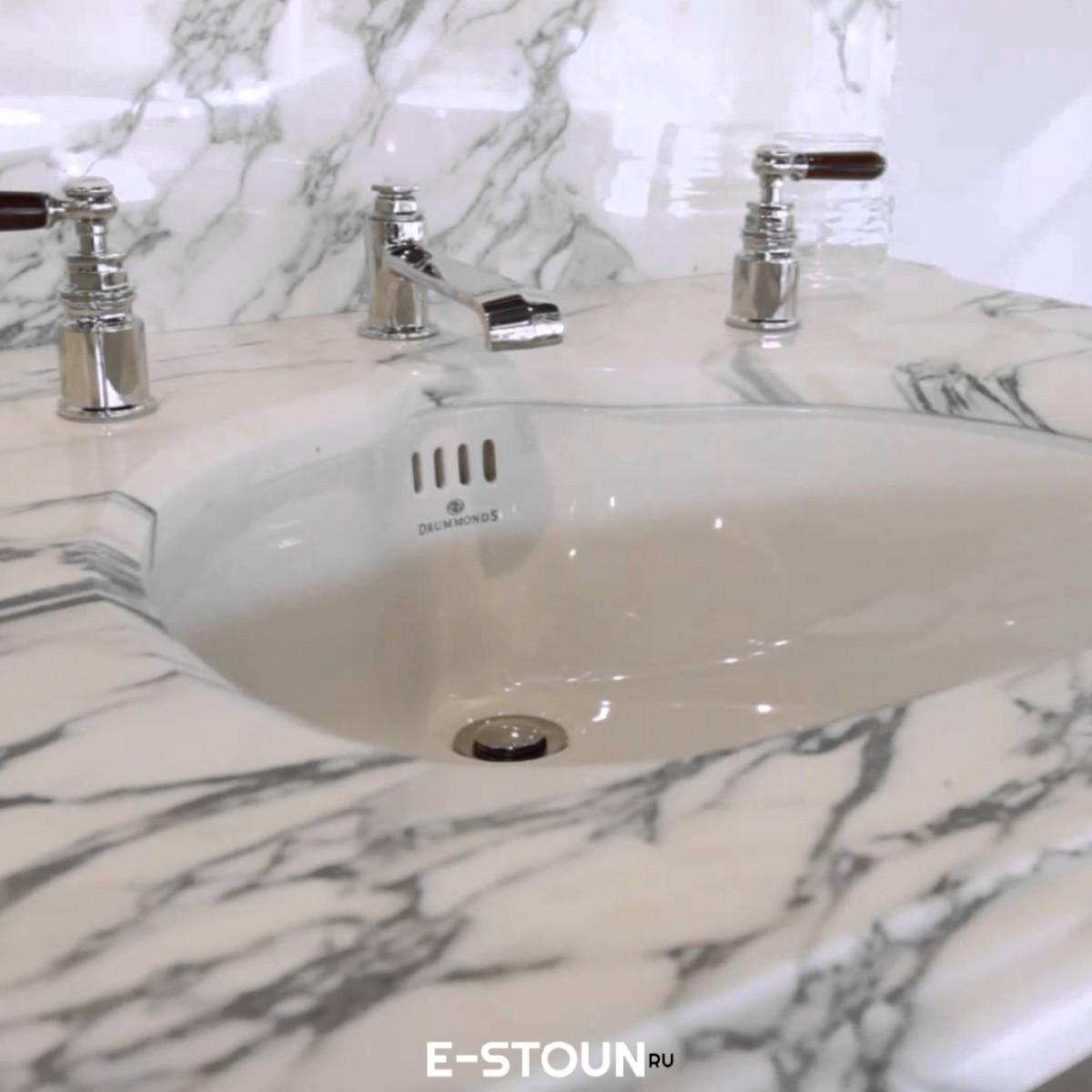 Мраморная столешница для ванной